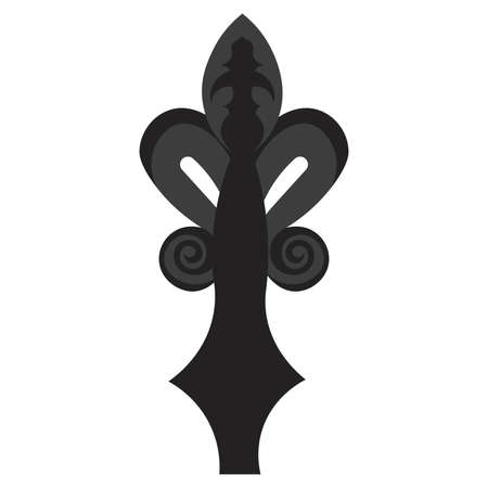 Isolated fleur de lis antique black elegant emblem icon - Vector Stock Illustratie