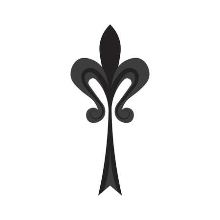 Isolated fleur de lis heraldic black elegant emblem icon - Vector Stock Illustratie