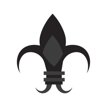 Isolated fleur de lis original black elegant emblem icon - Vector Stock Illustratie