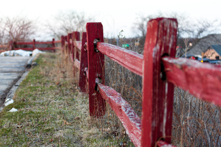 Old Red Fence