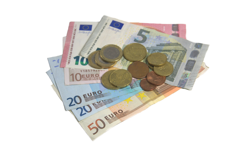 legal tender: Sample banknotes and coins legal tender in Europe.
