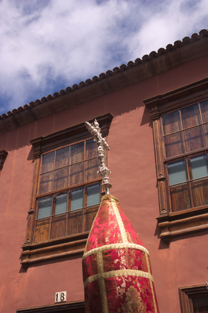 September 2016. Tenerife, Spain. Representation of the Magna Cruz in a procession of the Holy Christ in San Cristobal de la Laguna, Tenerife, Spain