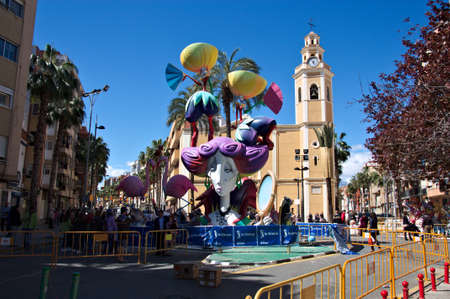 March, 2019. Torrent, Valencia, Spain. Image of the fallero monument during the week of festivities dedicated to San Jos? in Valencia.