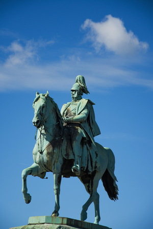 Wilhelm II horse statue in Cologne ,Koln, Germany , 2017 Editorial