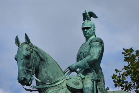 ケルンのヴィルヘルムII馬像、ケルン、ドイツ、2017年