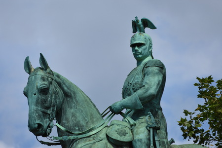 Wilhelm II horse statue in Cologne ,Koln, Germany , 2017 에디토리얼