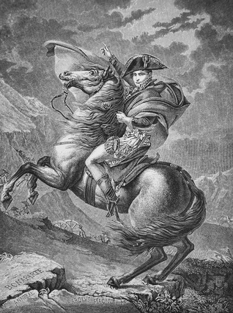 Napoleon at the Saint-Bernard Pass or Bonaparte Crossing the Alps) Editorial