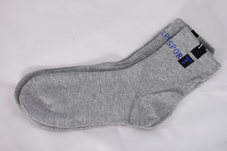 gray mens socks Archivio Fotografico