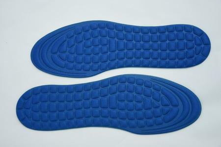 Blue orthopedic shoe insoles Stock Photo