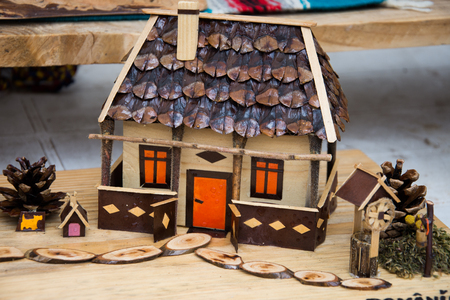 romanian Wooden toy house