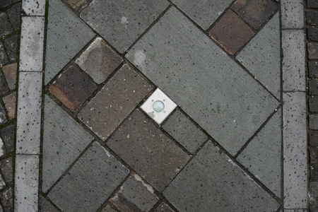 Light in pavement for street decoration