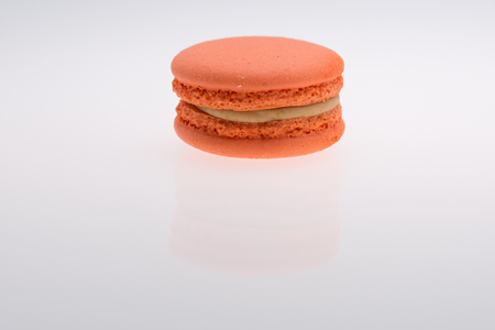 Orange  Macaroons isolated on white