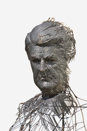 wire head,portret , metal artistic creation By Darius Hulea ,in Bistrita, Romania,2017