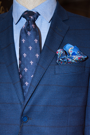 Classic suit, shirt and tie Stock Photo