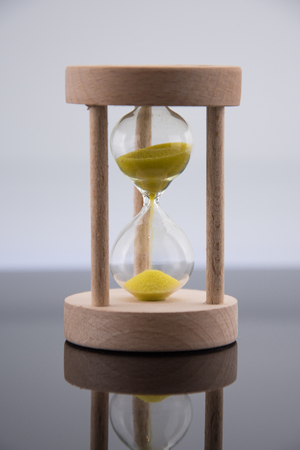 Wooden Hourglass isolated