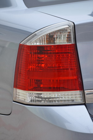 Cars exterior details.Gray car .Rear light. Stockfoto