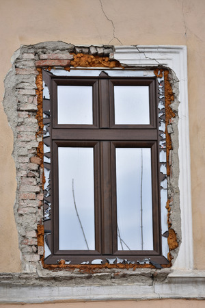 new thermopan window installation of a new window , Stock Photo