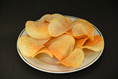 Potato flavorful chips Stock Photo