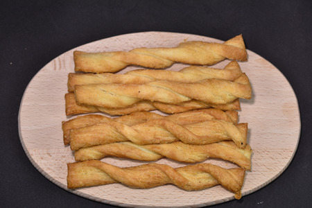 romanian Twists pastry,spirals with salt and cheese