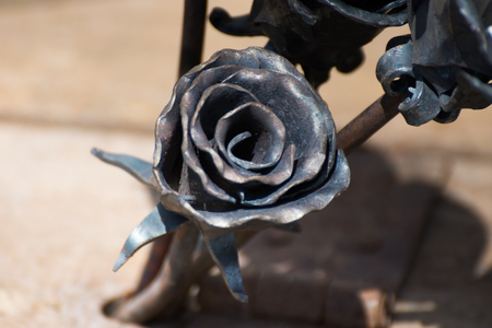 forged products in the form of a rose, iron rose