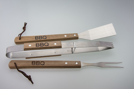 Barbeque Utensils, Set of tools for bbq Stock Photo