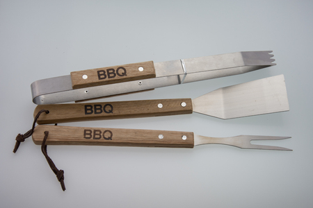 Barbeque Utensils, Set of tools for bbq 스톡 콘텐츠