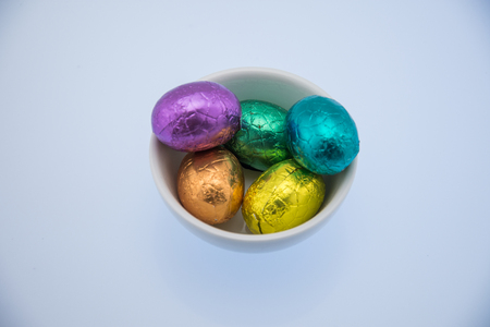 Colorful Easter Chocolate Eggs