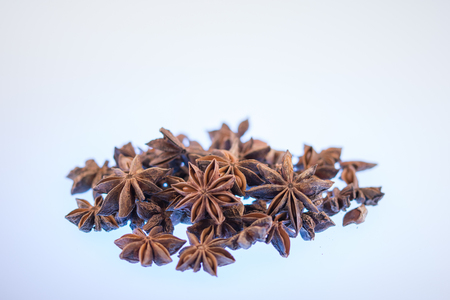 Star anise spice fruits and seeds