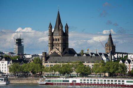 Great St. Martin Church in Cologne, Germany ,2017,