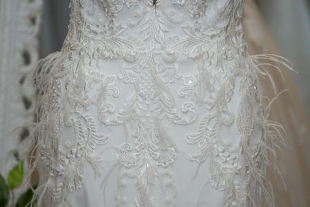 Wedding dress detail.