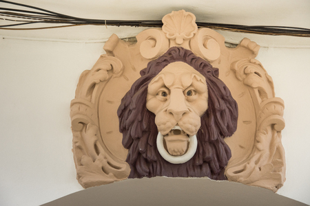 Lion head in Vatra Dornei, Romania, 2018