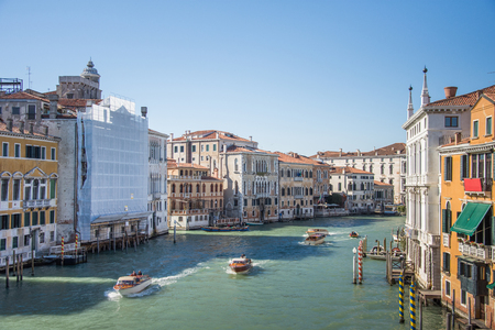 Grand Canal and Basilica Santa Maria della Salute in Venice,march, 2019 Archivio Fotografico