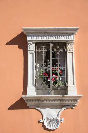 Venetian  window  in Venice, old architecture