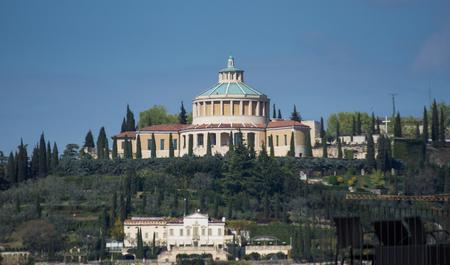 Sanctuary Della Madonna Di Lourdes View Travel, holidays, architecture. March  2019. Verona , Italy.