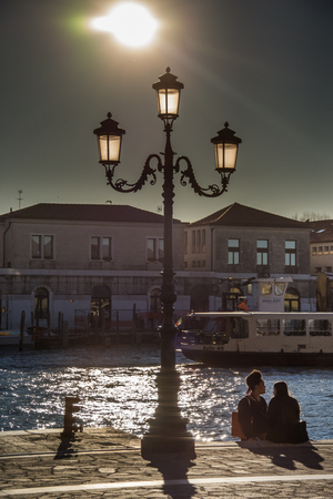 Italy Street lamp ,lamppost in Venice, Italia,march, 2019