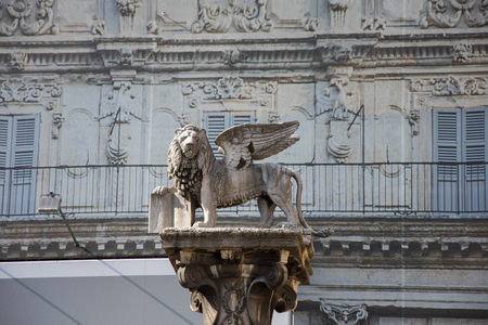Winged Lion of St Mark in Verona,2019,march