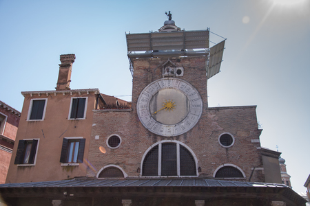 Picture of the sun clock tower in Venice, Italy, march, 2019