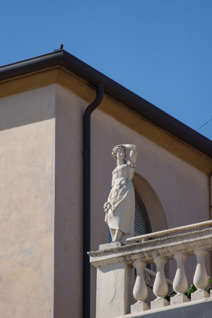 Architectural detail in the historic city center of Verona. Italy,2019