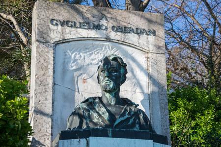 Guglielmo Oberdan - Annibale De Lotto Monument, Venice,march, 2019