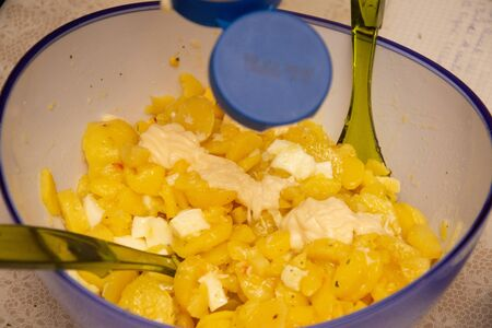 Potato salad with eggs