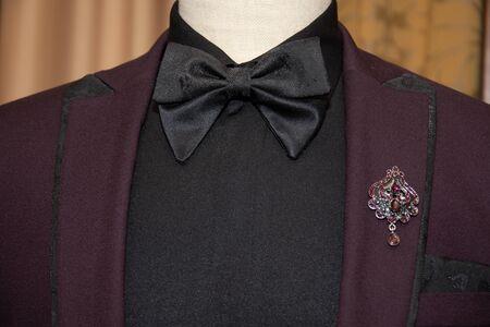 tuxedo suit and black bow tie 写真素材