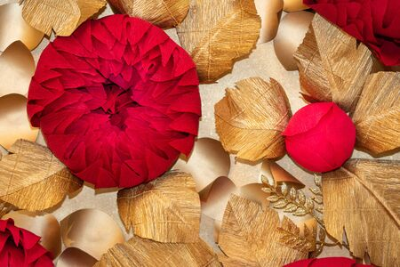 artificial paper flowers for wedding party 写真素材