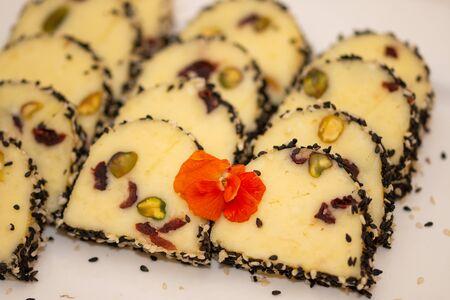 cream cheese with pistachios 写真素材