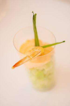 shrimp in cocktail sauce , 写真素材