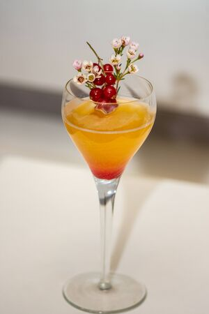 fresh coktail with  red grapes