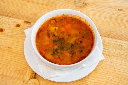 Soupe de porc aux légumes