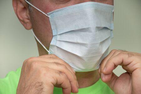 Homemade face Mask -Coronavirus COVID-19),protection mask fixed on the face