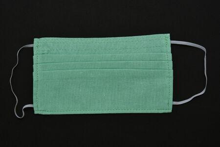 Homemade GREEN Cotton Face Mask ,Coronavirus mask  ,COVID-19