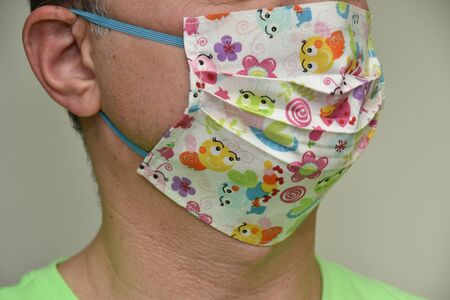 Homemade  mask , cotton face Mask  protection for girls with flowers,   -Coronavirus COVID-19)
