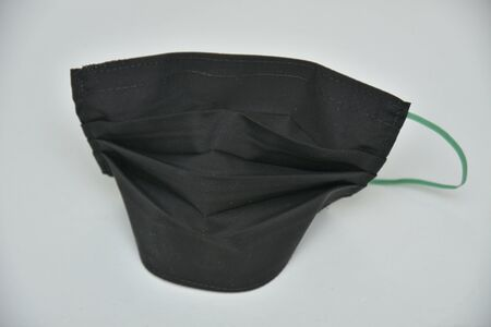 ,protection black mask  ,black  pattern on white background 스톡 콘텐츠 - 148244443